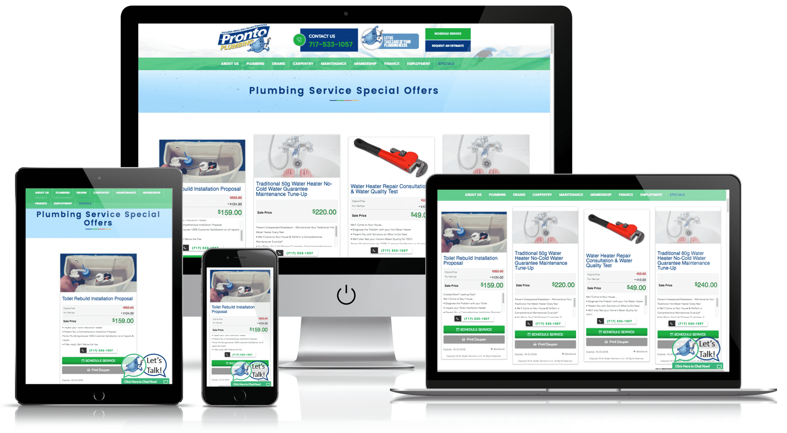 Home Local Services Websites and Digital Marketing Example on All Devices